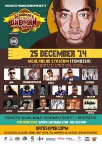 Line-up: DJ Shimza 6th One Man Show